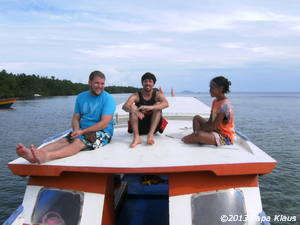 On deck of RAJA LAUT Dive boat