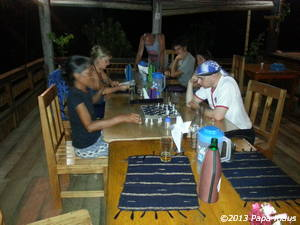 In the evening a chess game with Djati was the order of the day