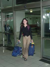 Arrival of our daughter in Manado